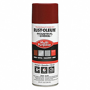 Industrial Choice Spray Paint in Gloss Cherry Red for Masonry, Metal, Plastic, Wood, 12 oz.