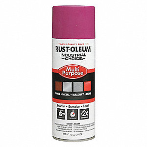 Industrial Choice Spray Paint in Gloss OSHA Safety Purple for Masonry, Metal, Plastic, Wood, 12 oz.