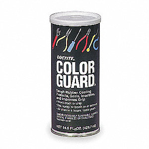 Rubber Protectant Color Guard,Red,14.5oz