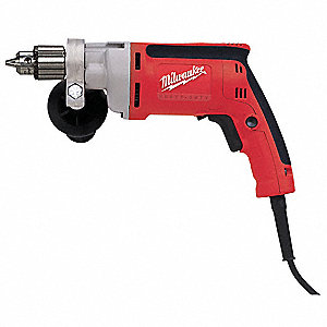 "3/8"" Electric Drill, 7.0 Amps, Pistol Grip Handle Style, 0 to 1200 No Load RPM, 120VAC"