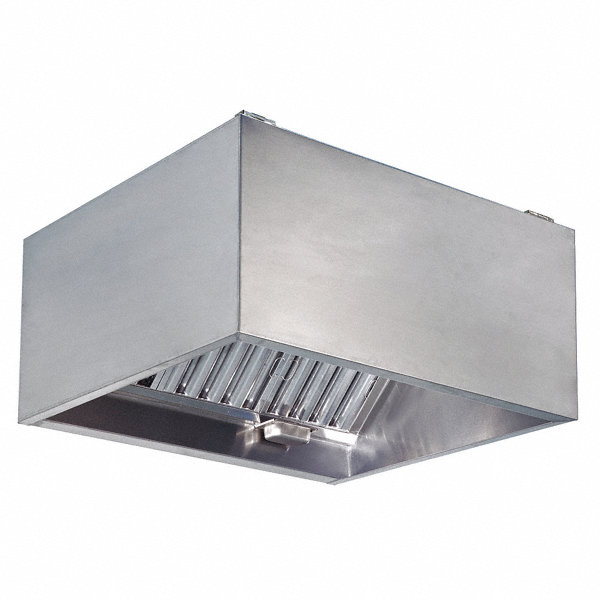DAYTON Commercial Kitchen Exhaust Hood, 430 Stainless