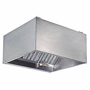 Commercial Kitchen Exhaust Hood,SS,60 in