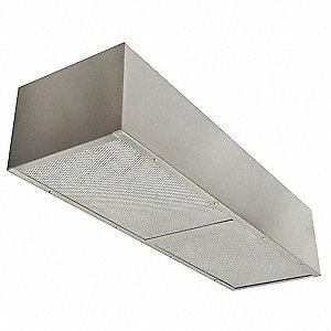 Air Supply Plenum, 430 Stainless Steel, Number of Light Fixtures 0, Length 48""