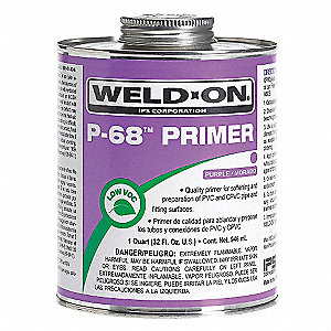 Primer, Purple, 8 oz., for PVC and CPVC Pipe