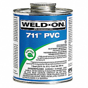 Pipe Cement,Gray,16 Oz,PVC