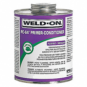 Primer Conditioner, Purple, 8 oz., for PVC and CPVC Pipe