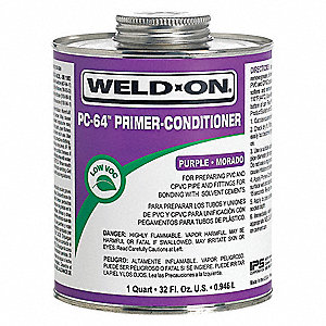 Primer Conditioner, Purple, 32 oz., for PVC and CPVC Pipe