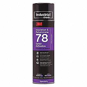 24 oz. Polystyrene Bonding, Inverted Spray Adhesive with Temp. Range (F) of 0° to 140°