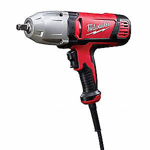 "1/2"" Impact Wrench, 120VAC Voltage, Friction-Ring w/thru Hole, 300 ft.-lb. Max. Torque"