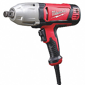 "3/4"" Impact Wrench, 120VAC Voltage, Friction-Ring w/thru Hole, 380 ft.-lb. Max. Torque"