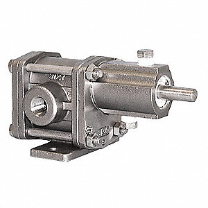"1/2"" Intermediate-Duty 316 Stainless Steel Rotary Gear Pump Head, Pedestal Design, 150 psi"