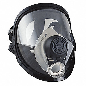 Full Face Respirator, 5 Point Suspension, M/L