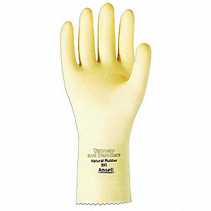 Chemical Resistant Gloves, Unlined Lining, Natural, PR 1