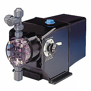 Diaphram Chemical Metering Pump, Max. Flow Rate: 0.42 gph, Max. Pressure: 150 psi