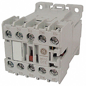 120VAC Miniature IEC Magnetic Contactor&#x3b; No. of Poles 3, Reversing: No, 9 Full Load Amps-Inductive