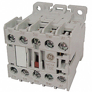 24VAC Miniature IEC Magnetic Contactor; No. of Poles 3, Reversing: No, 6 Full Load Amps-Inductive