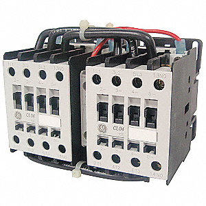24VAC Miniature IEC Magnetic Contactor&#x3b; No. of Poles 3, Reversing: Yes, 6 Full Load Amps-Inductive