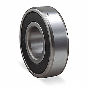 "Radial Ball Bearing, Double Sealed, 1.0000"" Bore Dia., 2.0000"" Outside Dia."