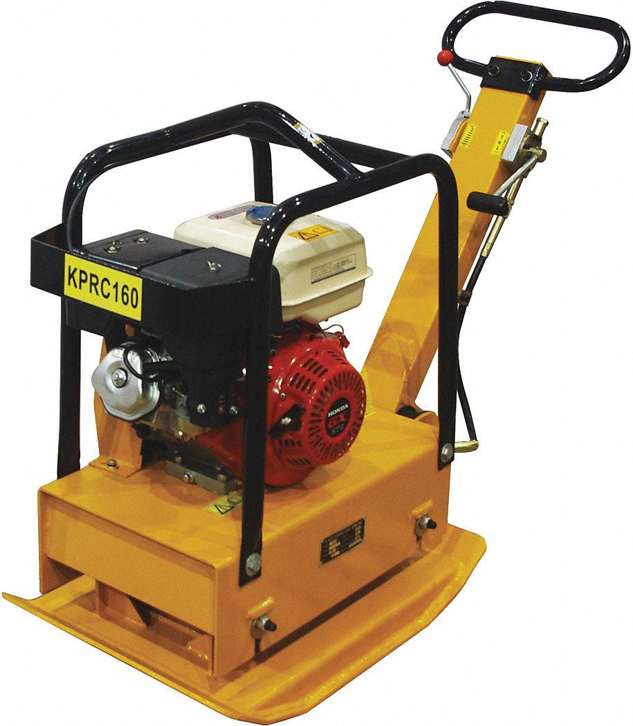 Plate Compactor, 14-5/8 in  x 28-1/2 in Plate Size, 2500 Centrifugal Pounds Force, 4300 VPM Vibratio