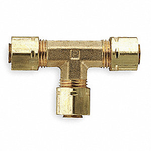 "Brass Compression Union Tee, 1/8"" Tube Size"