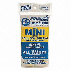 Mini Paint Roller Cover,4 In,PK2