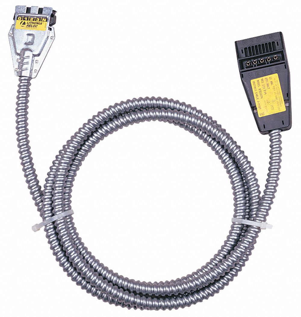 LITHONIA LIGHTING 2-Port Cable,OnePassOC2,277V,25FT - 6LFL2|OC2 277 ...