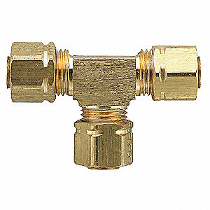 Union Tee,Brass,Comp,3/16In,PK10