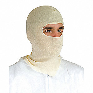 "Cotton Disposable Hood, 16"" Length, Natural, Size: Universal, EA 1"