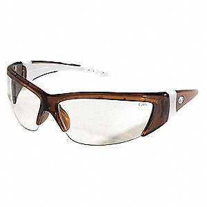 ForceFlex  Scratch-Resistant Safety Glasses, Clear Lens Color