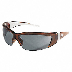 ForceFlex  Scratch-Resistant Safety Glasses, Gray Lens Color