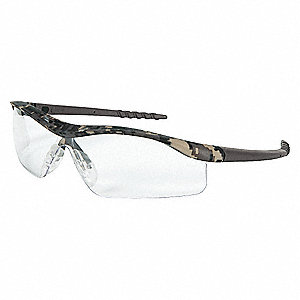 Crews® Scratch-Resistant Safety Glasses, Clear Lens Color