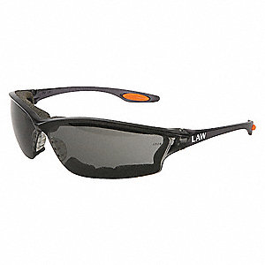 Anti-Fog, Scratch-Resistant Safety Glasses, Gray Lens Color