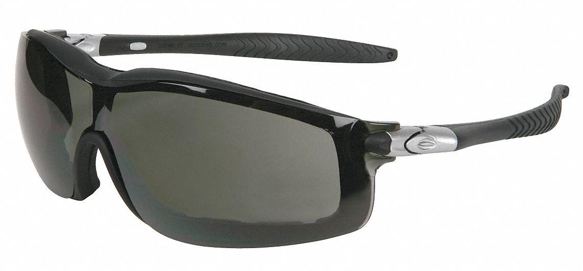 Anti-Fog Wraparound Scratch-Resistant Rattler Gray Safety Glasses