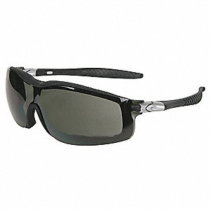 Crews® Anti-Fog, Scratch-Resistant Safety Glasses, Gray Lens Color