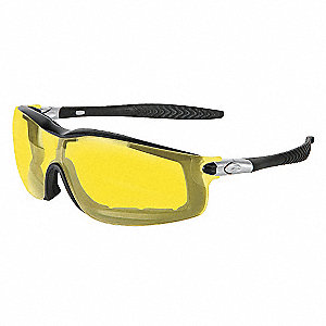 Crews® Anti-Fog Safety Glasses, Amber Lens Color