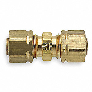 "Brass Compression Union, 3/16"" Tube Size"