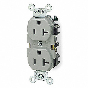 20A Industrial Environments Receptacle, Gray&#x3b; Tamper Resistant: No