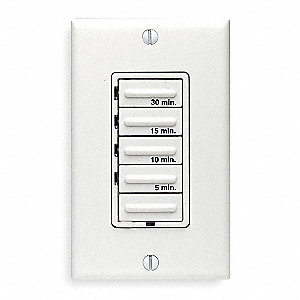 wall switch timer white min time setting 5 min max