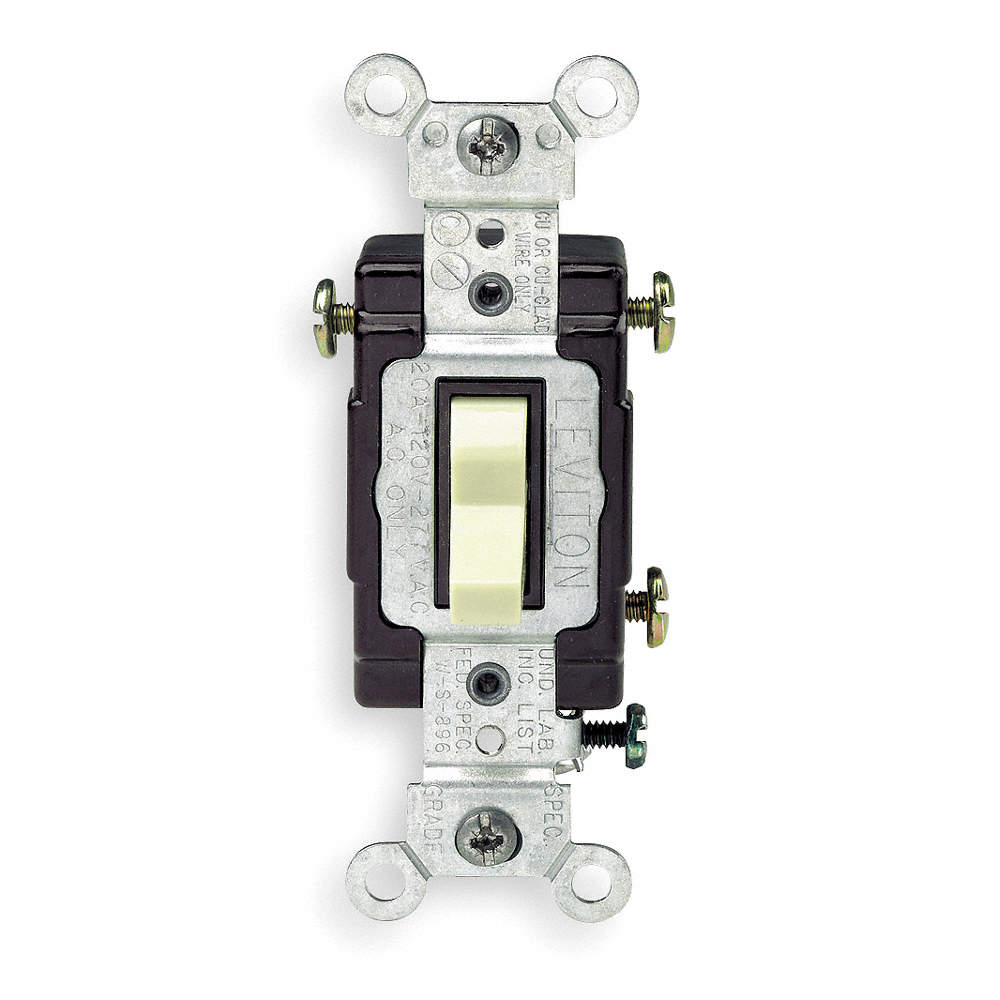 LEVITON Wall Switch, Switch Type: 3-Way, Switch Function: Maintained ...