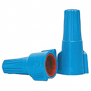 Twist On Wire Connector, Blue/Orange, 61 Series, Max. Wire Combination: (2) 14 AWG