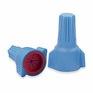 Wire Connector, Blue/Red, Max. Wire Combination: Min. 2 #18 - Max. 3 #10