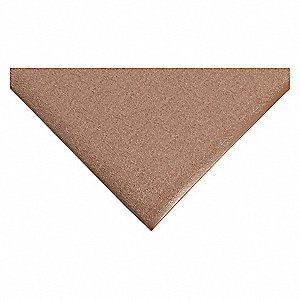 "Static Dissipative Mat, 5 ft. L, 3 ft. W, 3/8"" Thick, Brown"