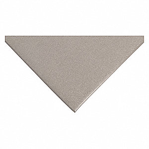 "Static Dissipative Mat, 5 ft. L, 3 ft. W, 3/8"" Thick, Gray"