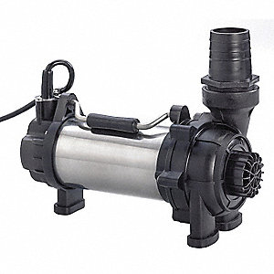 Nylon, Glass Fiber 1 HP Pond and Garden Pump, Submersible, 115V Voltage