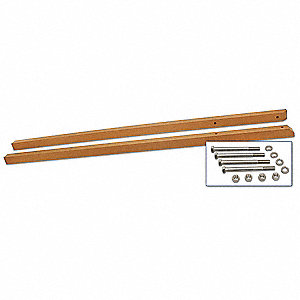 Brown Sign Post, Recycled Plastic, Length: 10 ft., 2 PK