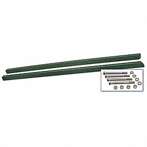 Green Sign Post, Recycled Plastic, Length: 10 ft., 2 PK