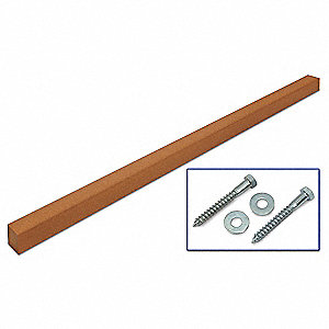 Brown Sign Post, Recycled Plastic, Length: 10 ft., 1 EA
