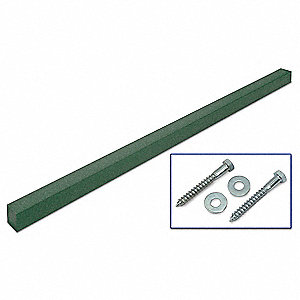 Green Sign Post, Recycled Plastic, Length: 10 ft., 1 EA