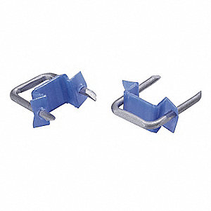 Cable Staple, 1/2In, Steel, Pk100
