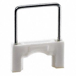 Cable Staple,3/8In,Plastic,Pk200